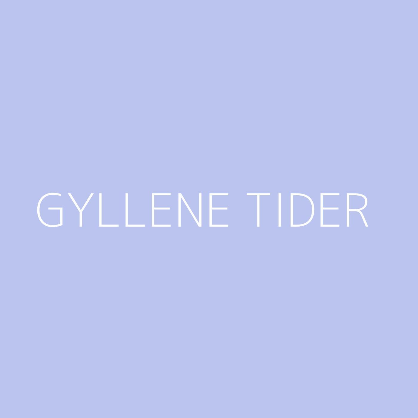 Gyllene Tider Playlist Artwork