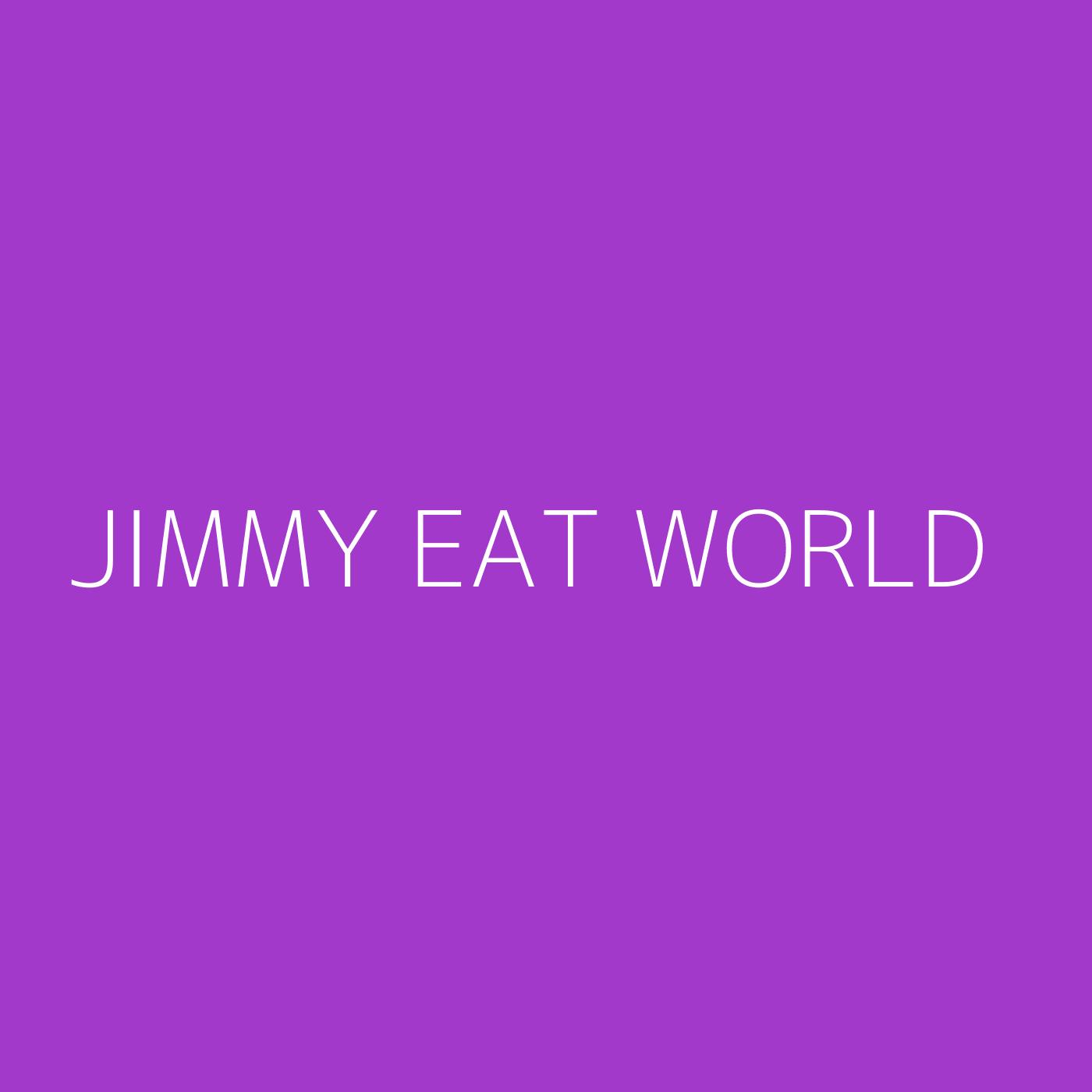 Jimmy Eat World Playlist Artwork