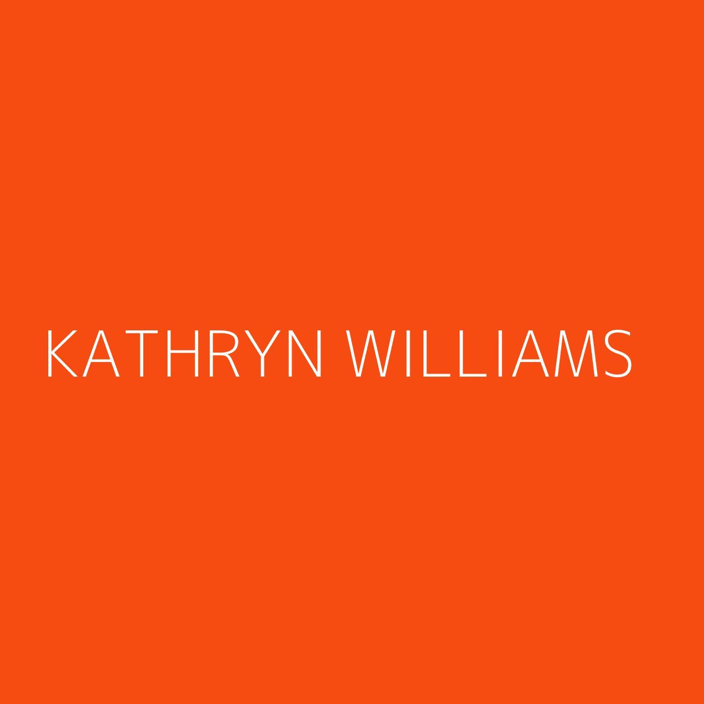 Kathryn Williams Playlist Artwork