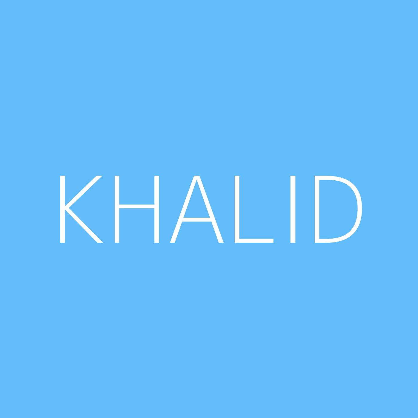 Khalid Playlist Artwork