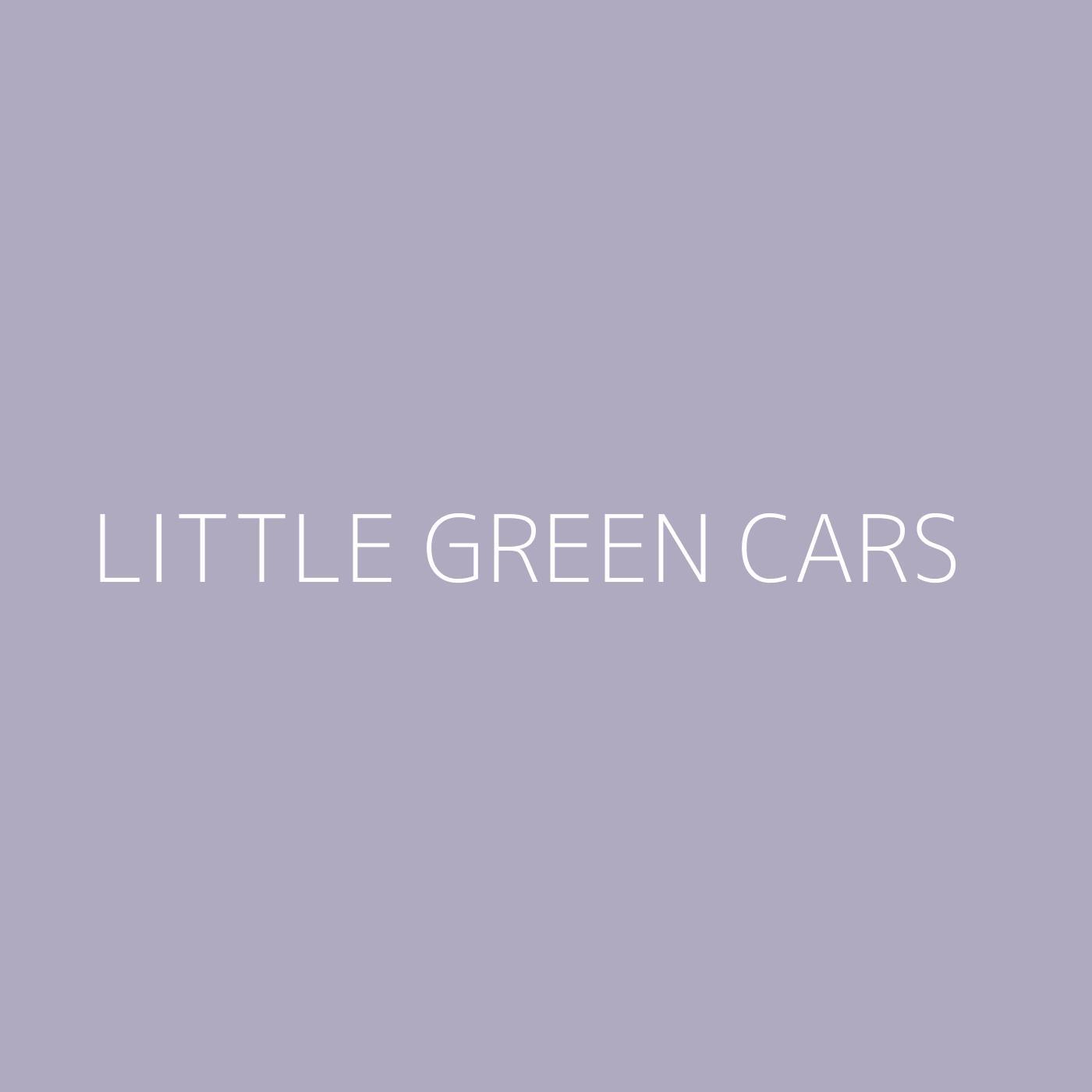 Little Green Cars Playlist Artwork