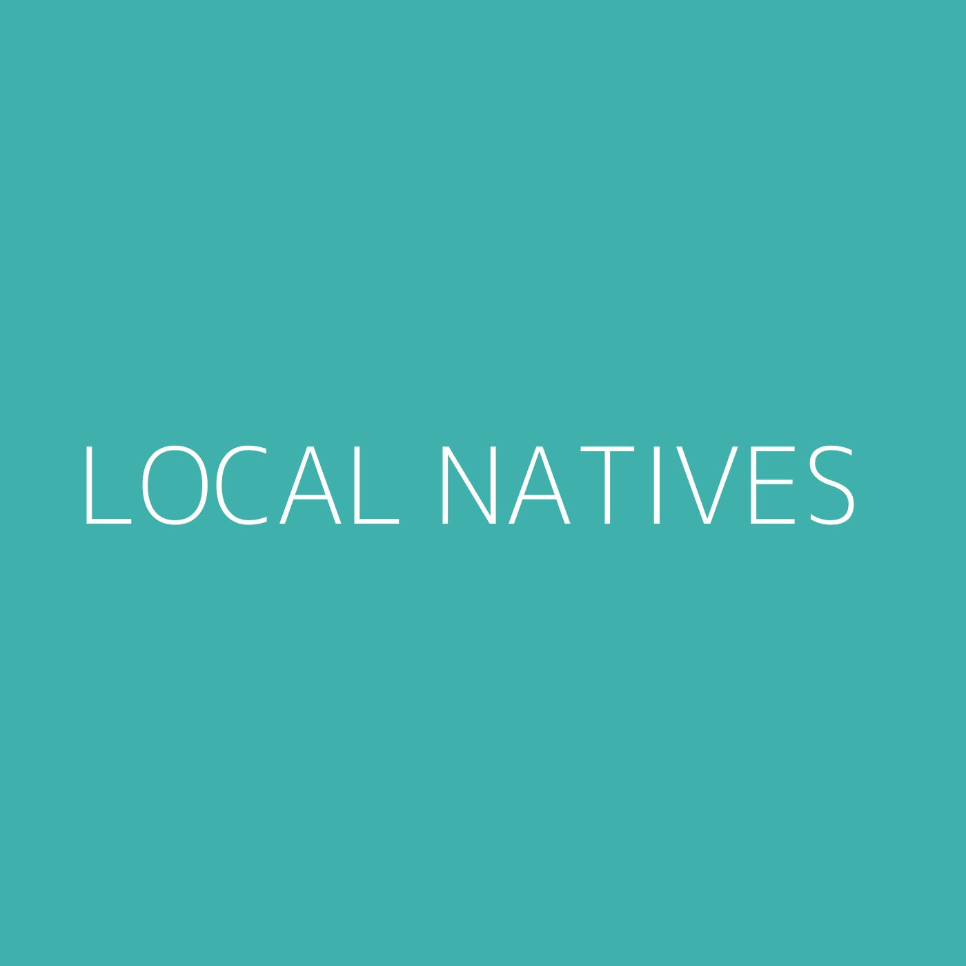 Local Natives Playlist Artwork