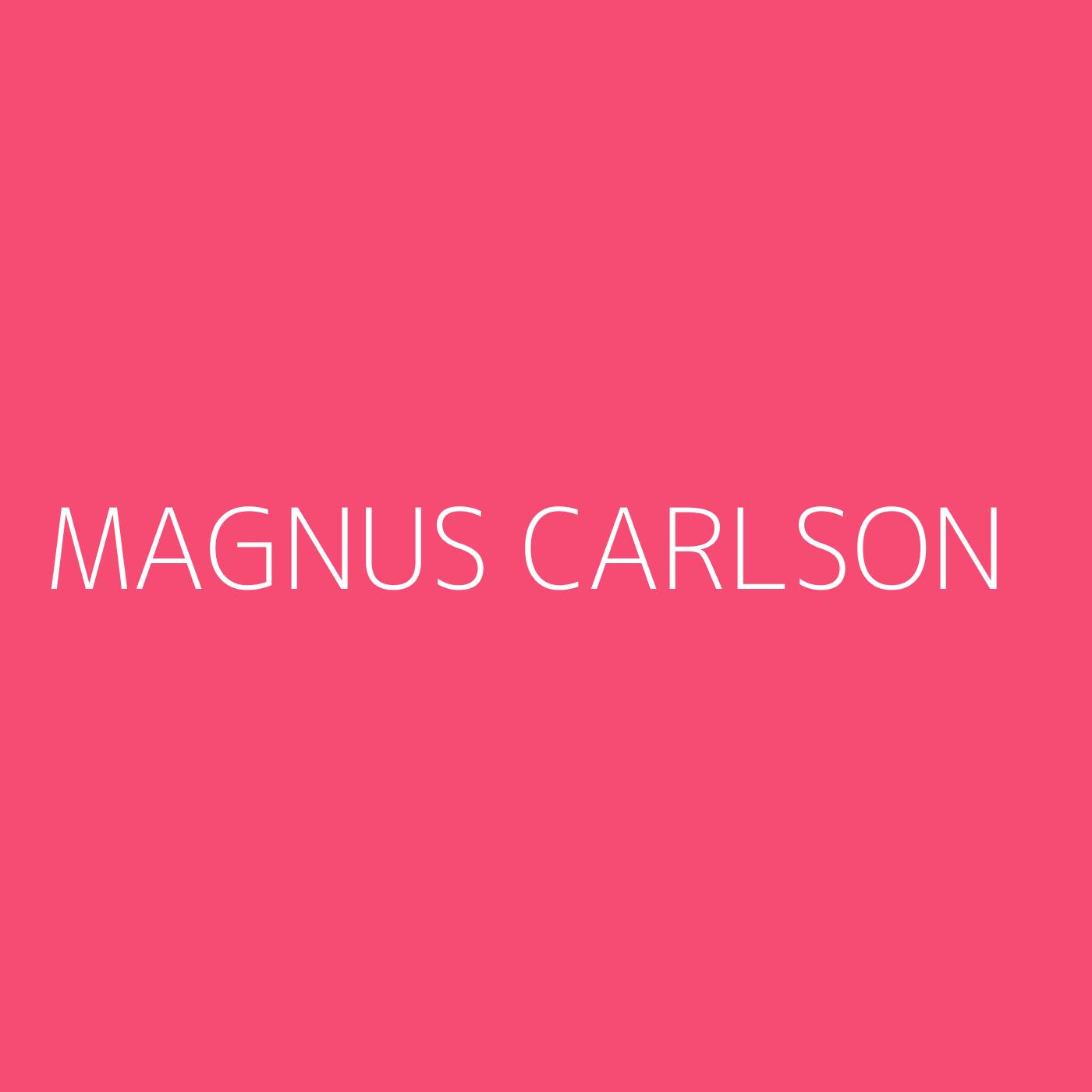 Magnus Carlson Playlist Artwork