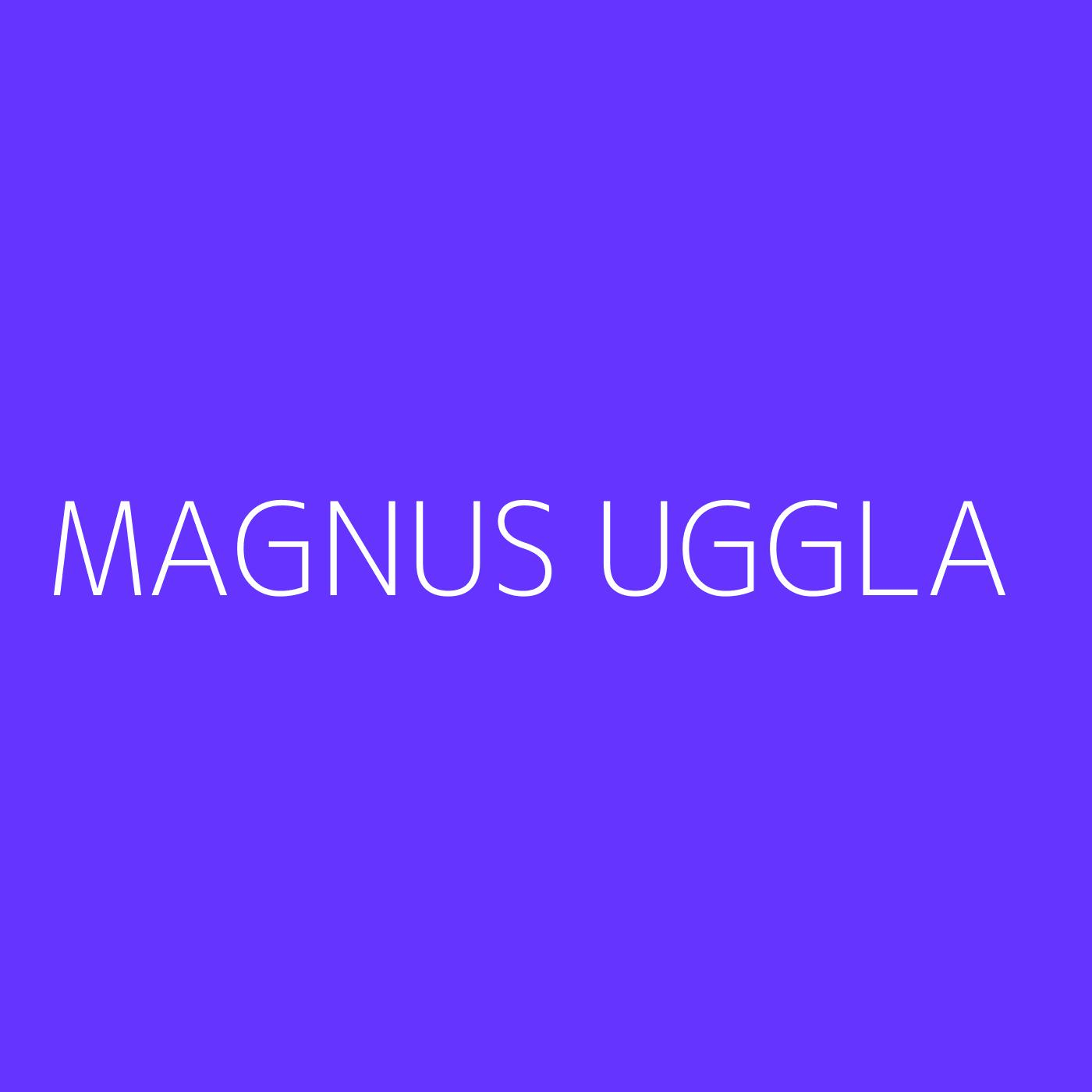 Magnus Uggla Playlist Artwork