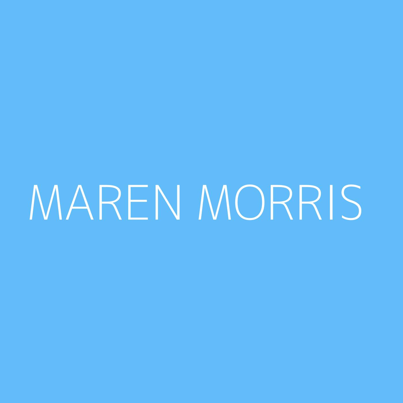 Maren Morris Playlist Artwork