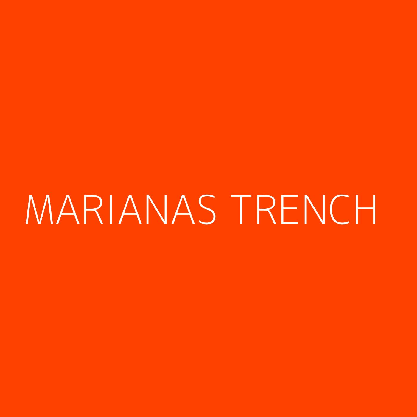 Marianas Trench Playlist Artwork