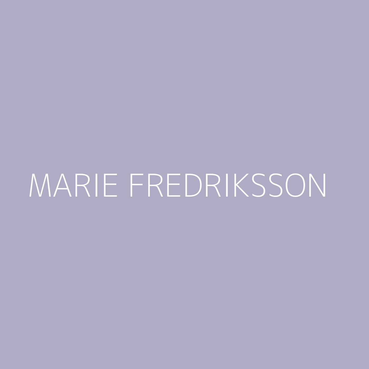 Marie Fredriksson Playlist Artwork