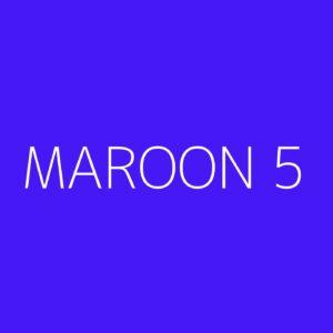 Maroon 5 Playlist - Most Popular