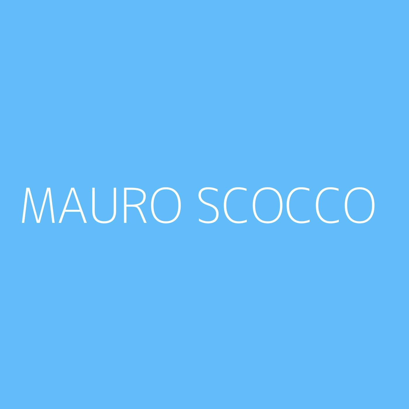 Mauro Scocco Playlist Artwork