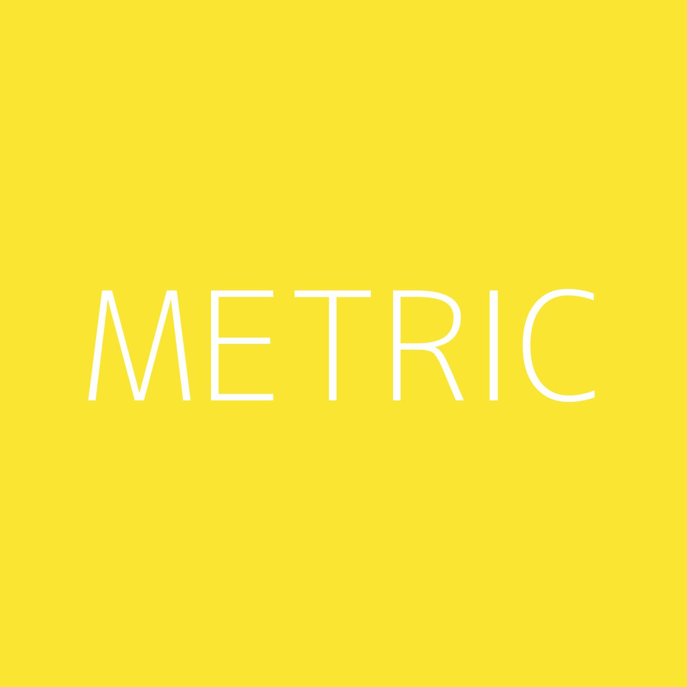 Metric Playlist Artwork