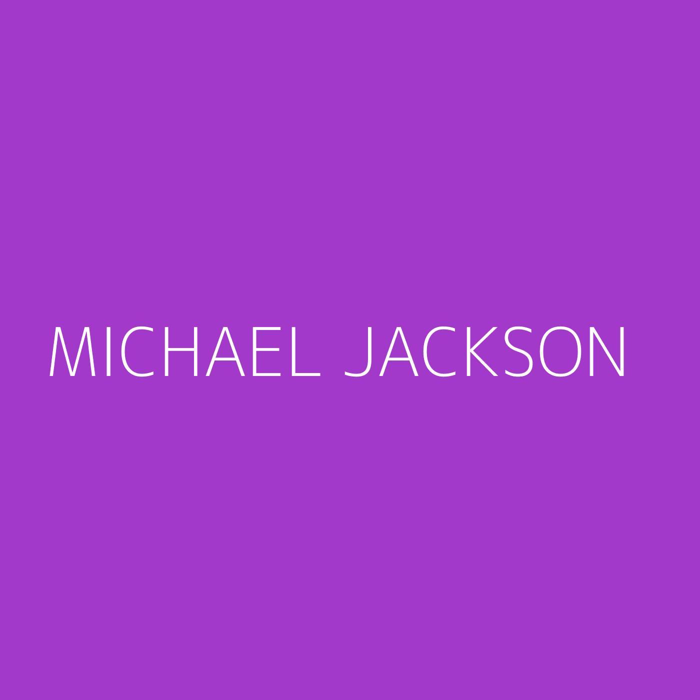 Michael Jackson Playlist Artwork