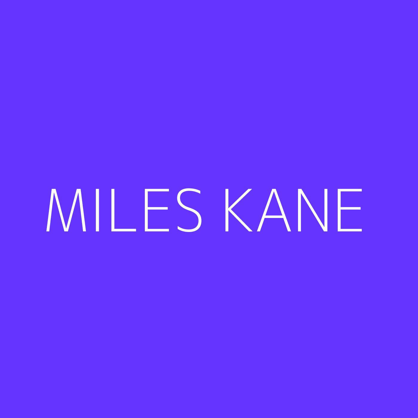 Miles Kane Playlist Artwork