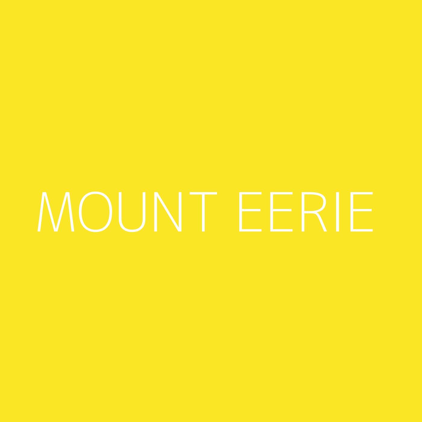 Mount Eerie Playlist Artwork