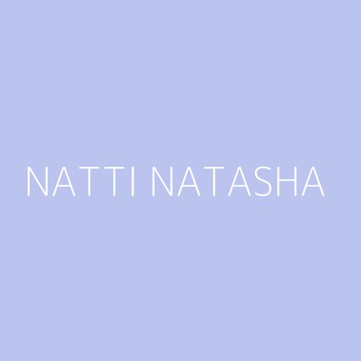 Natti Natasha Playlist Artwork