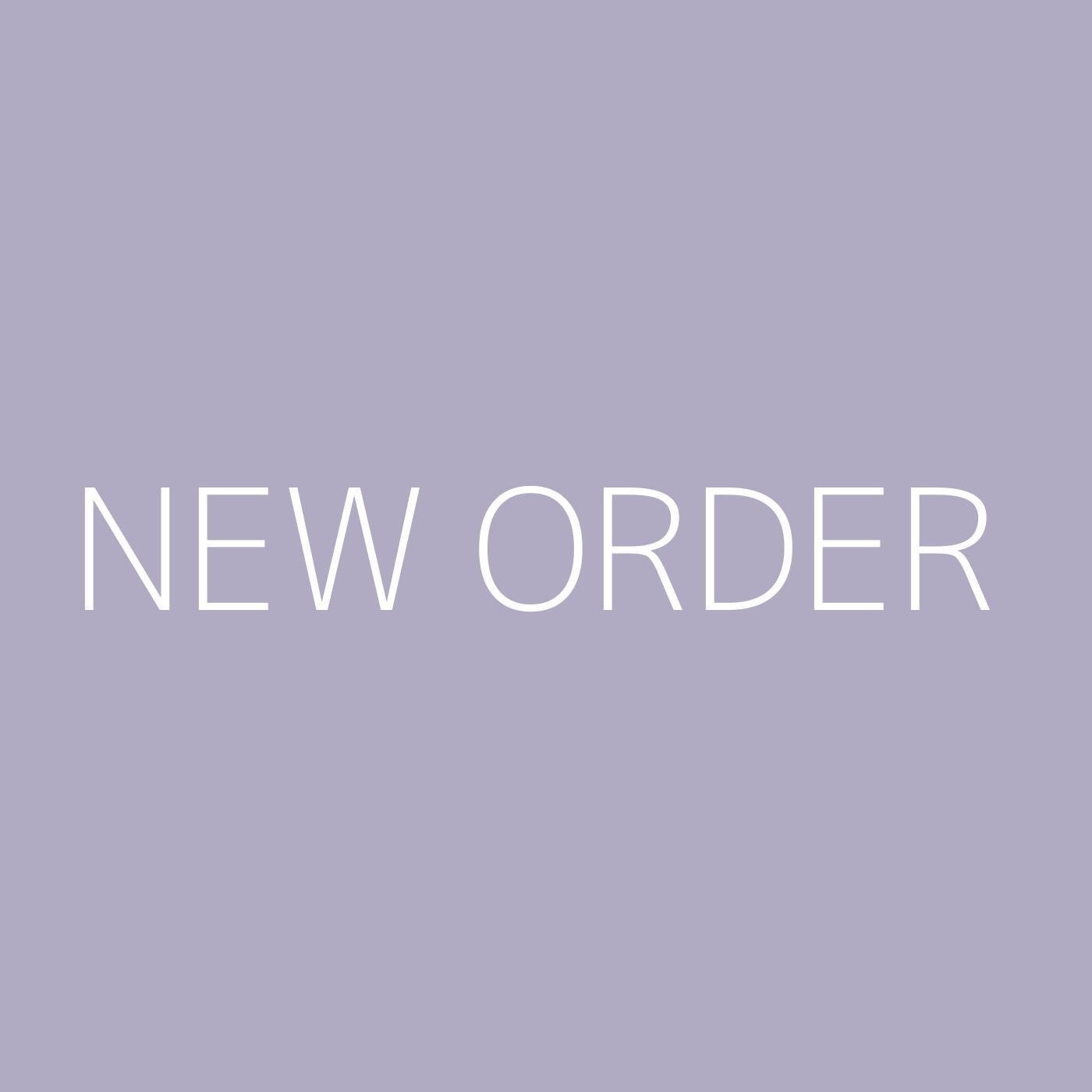 New Order Playlist Artwork