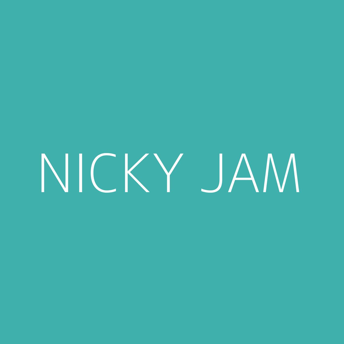 Nicky Jam Playlist Artwork