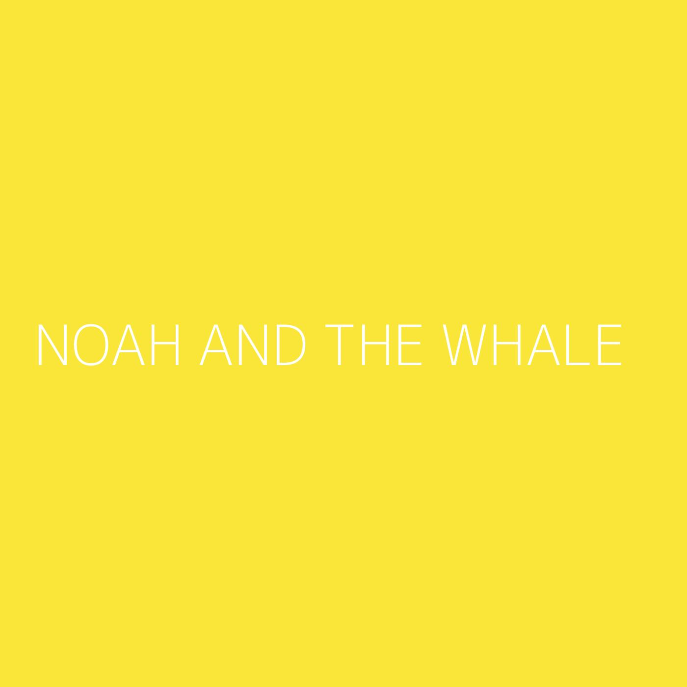 Noah And The Whale Playlist Artwork