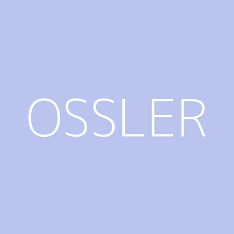 Ossler Playlist – Most Popular
