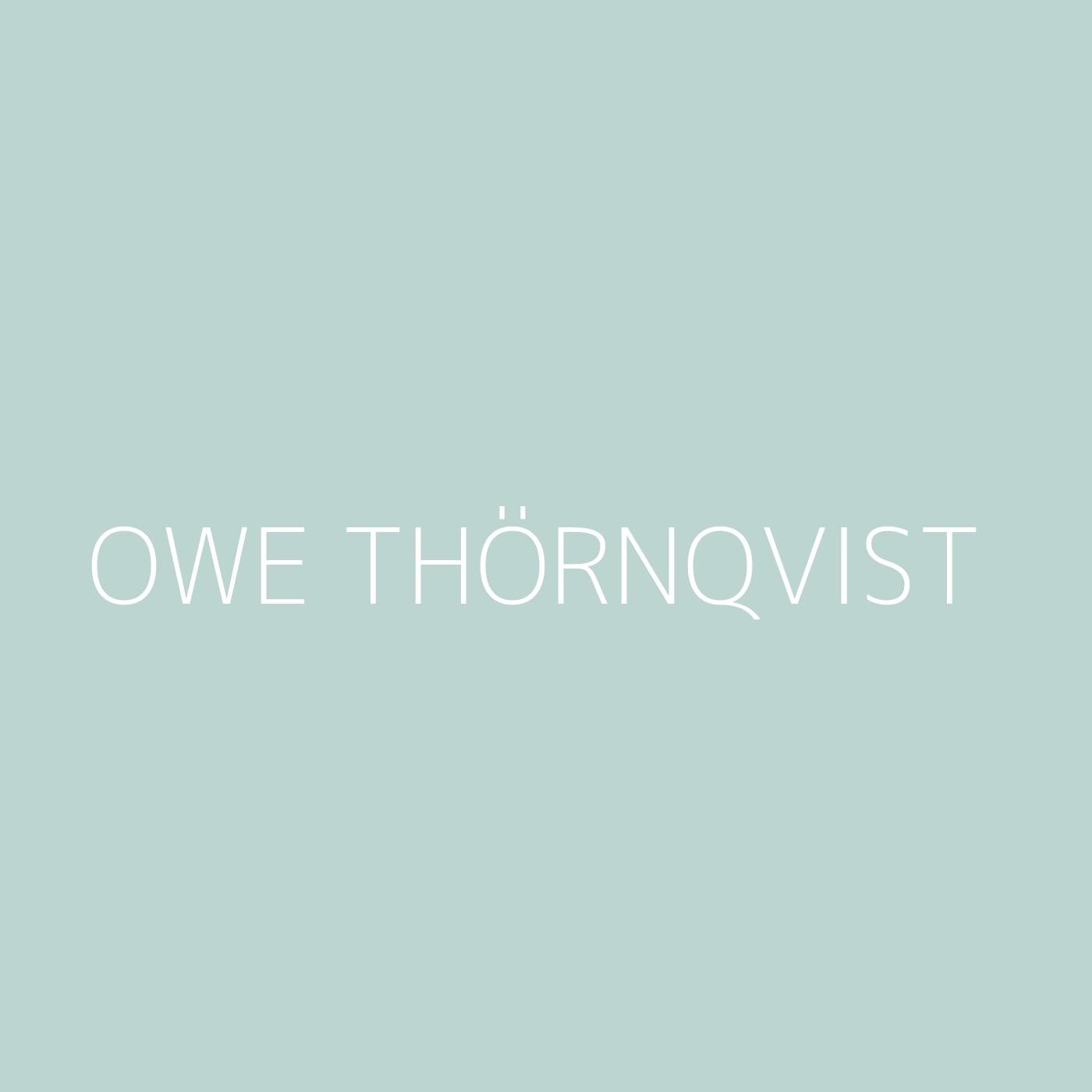 Owe Thörnqvist Playlist Artwork