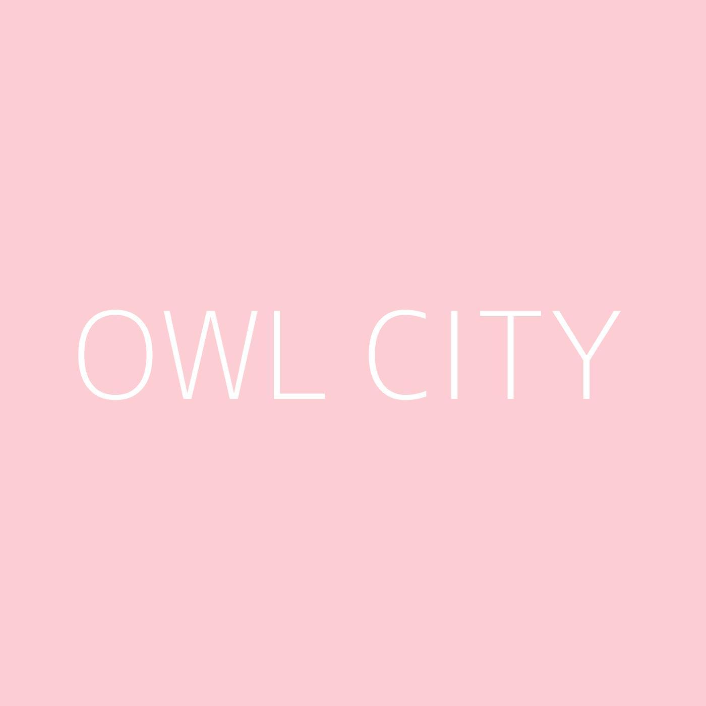 Owl City Playlist Artwork
