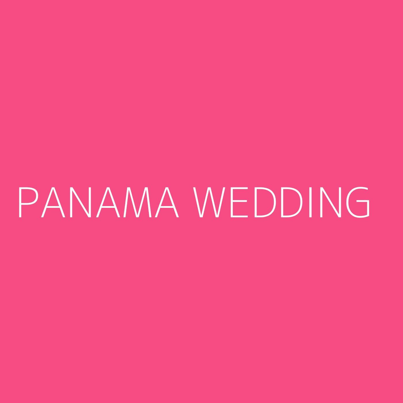 Panama Wedding Playlist Artwork