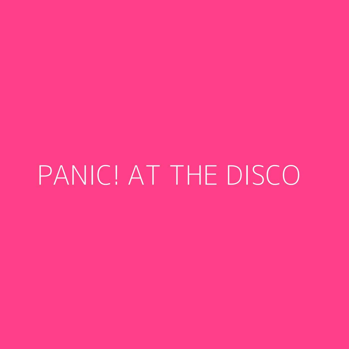 Panic! At The Disco Playlist Artwork