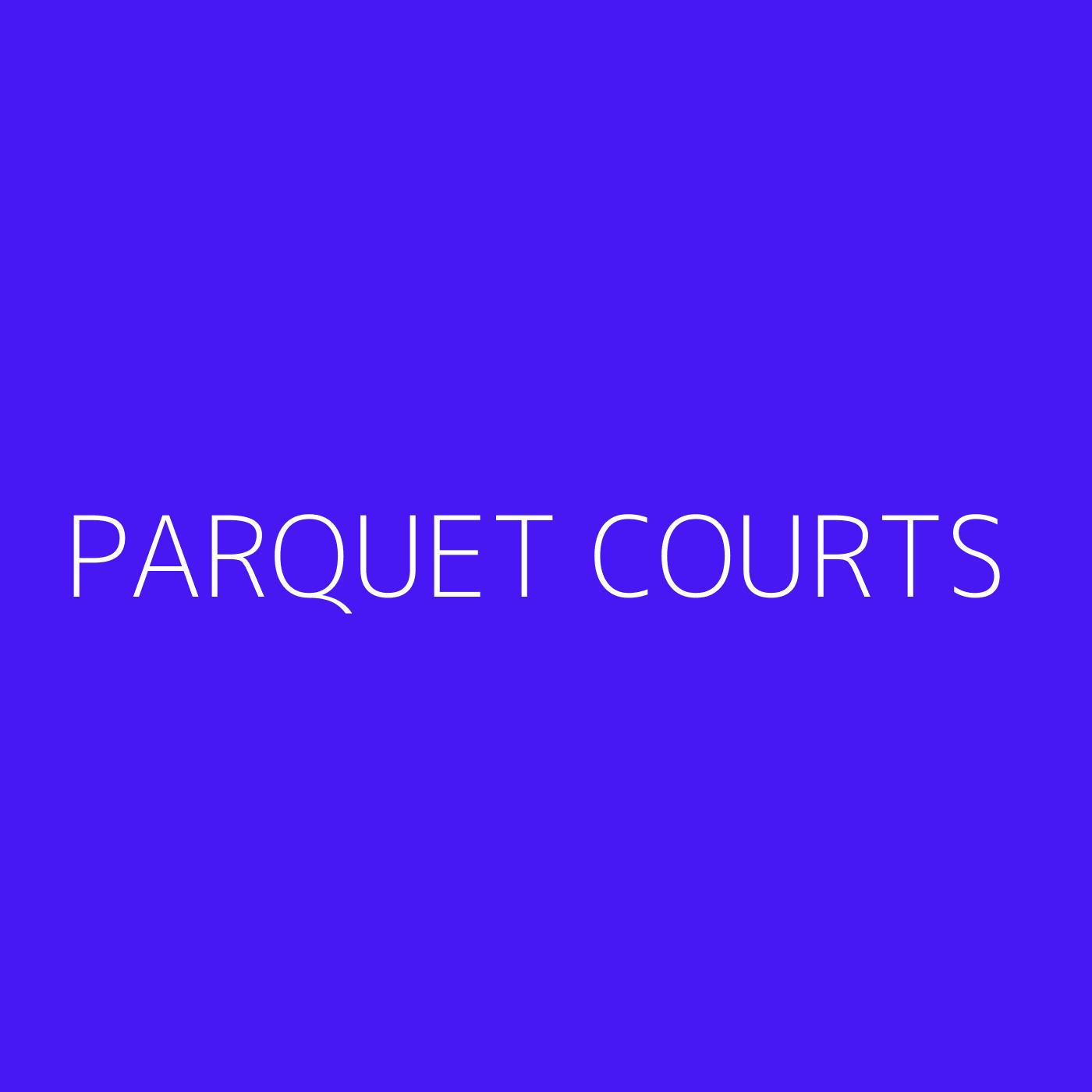 Parquet Courts Playlist Artwork