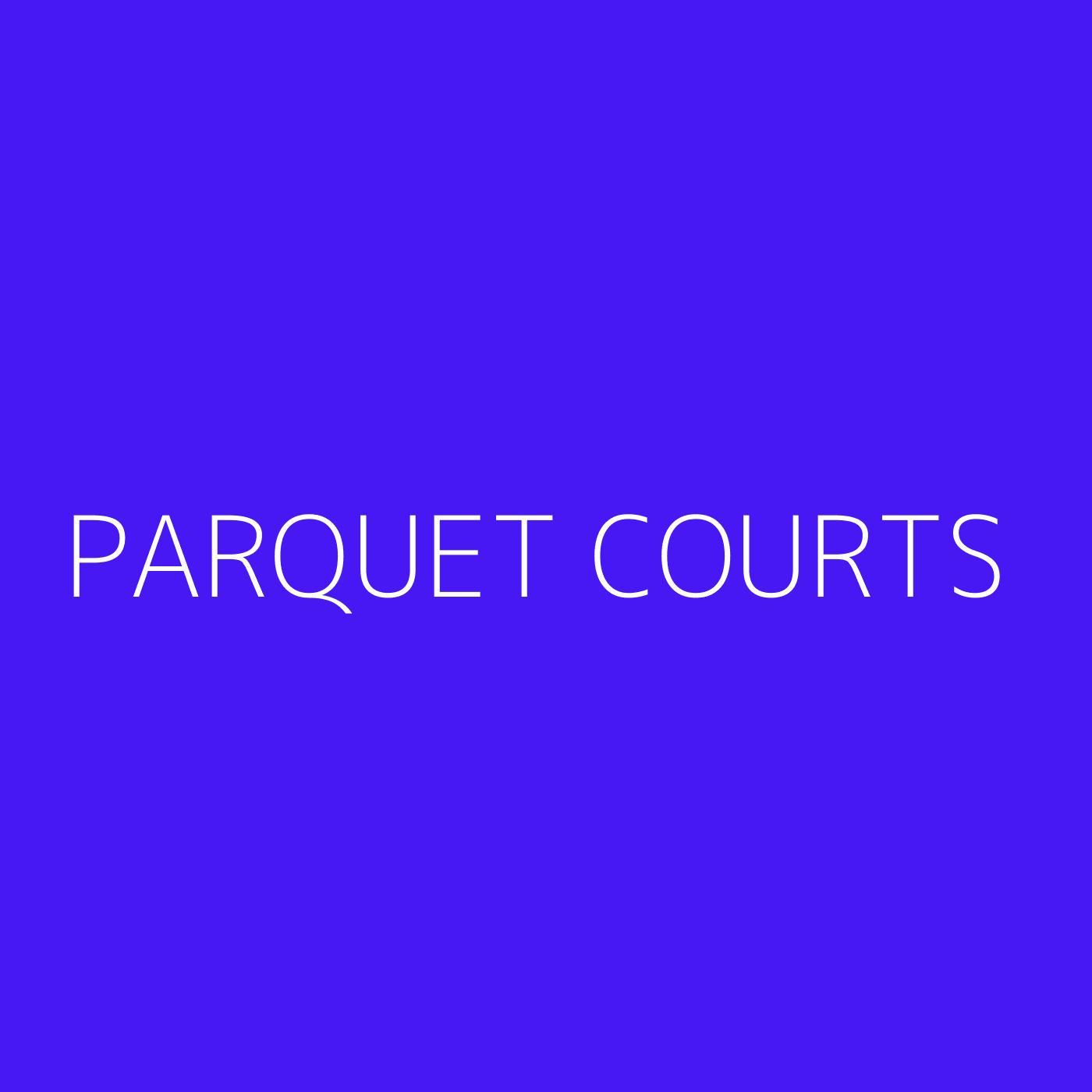 Parquet Courts Playlist Artwork