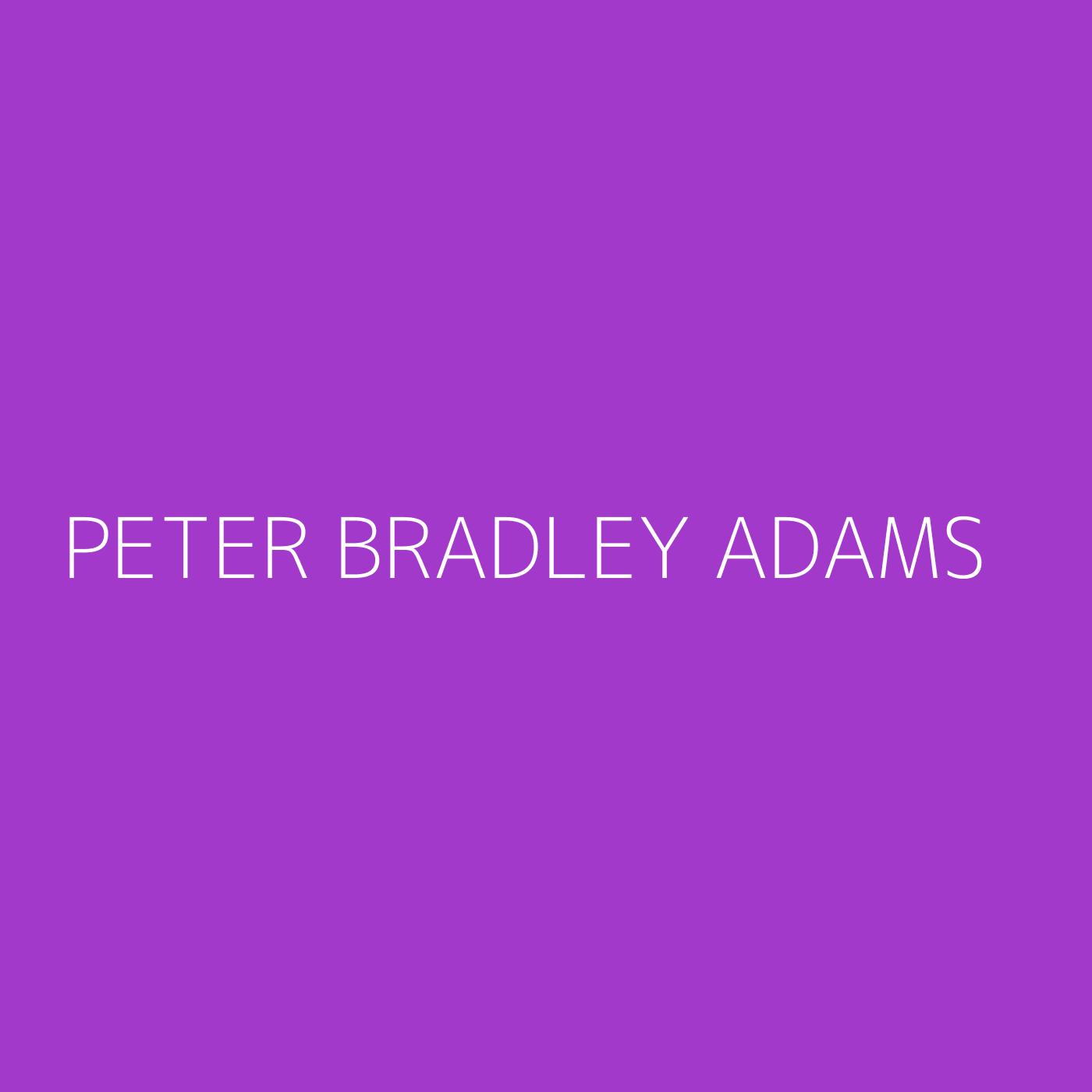 Peter Bradley Adams Playlist Artwork