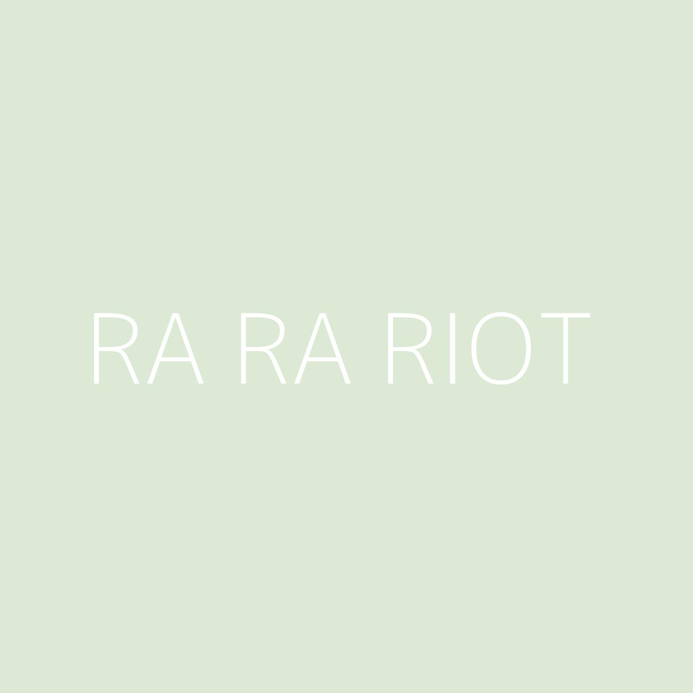 Ra Ra Riot Playlist Artwork