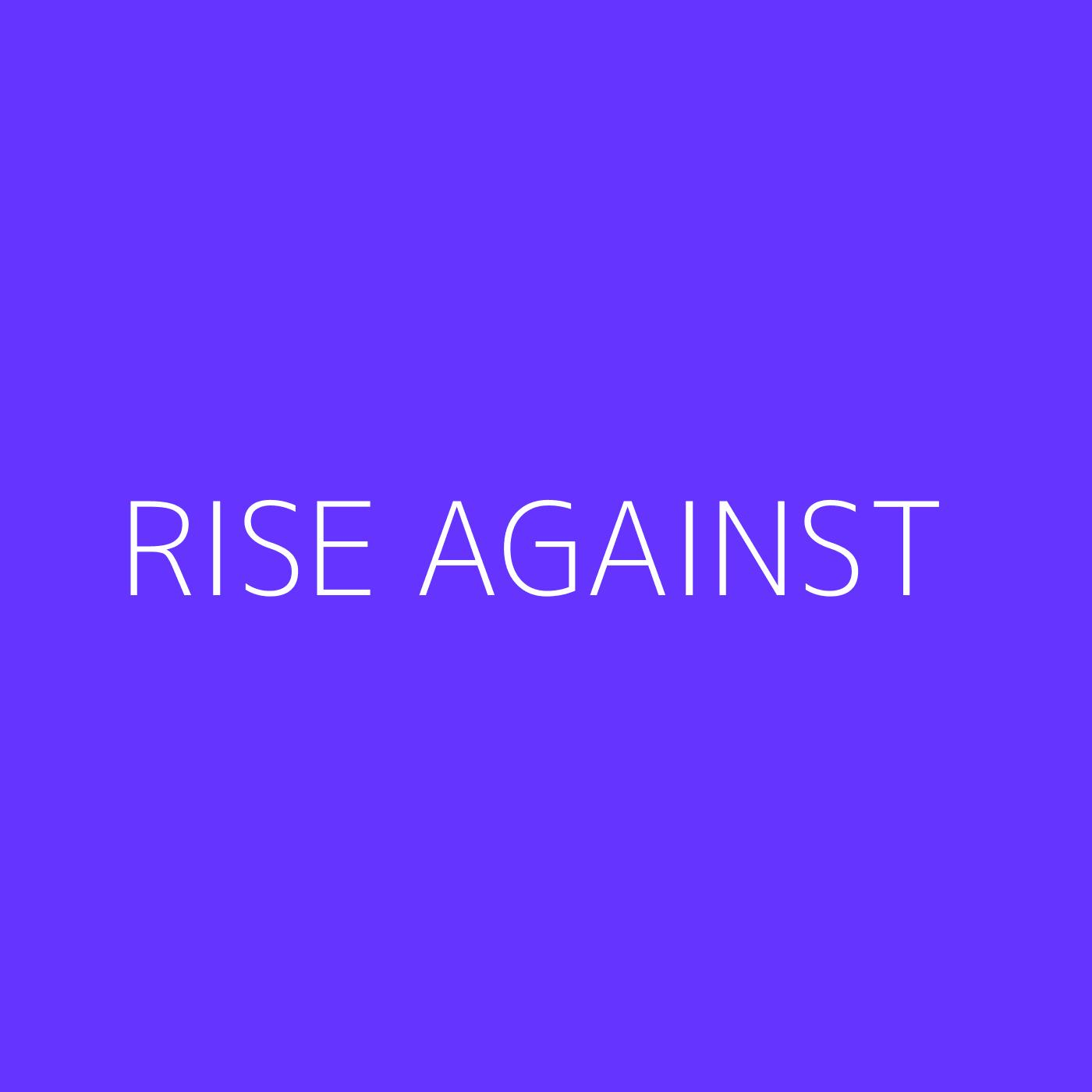 Rise Against Playlist Artwork