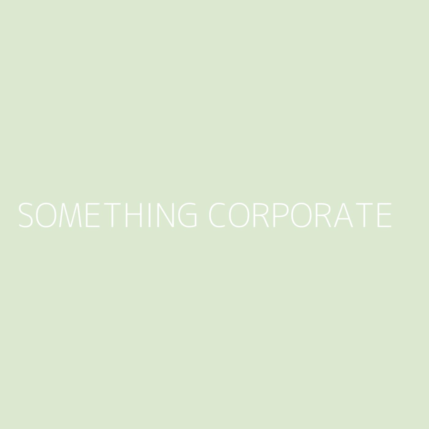 Something Corporate Playlist Artwork