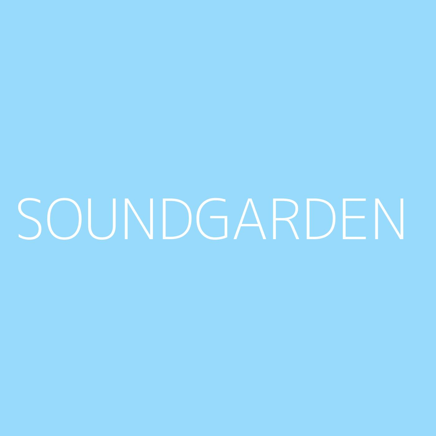 Soundgarden Playlist Artwork