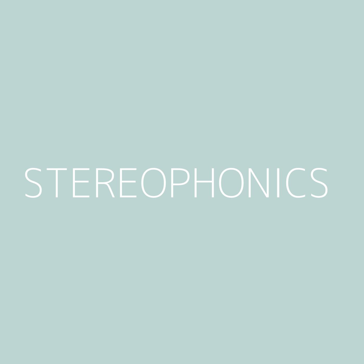 Stereophonics Playlist Artwork
