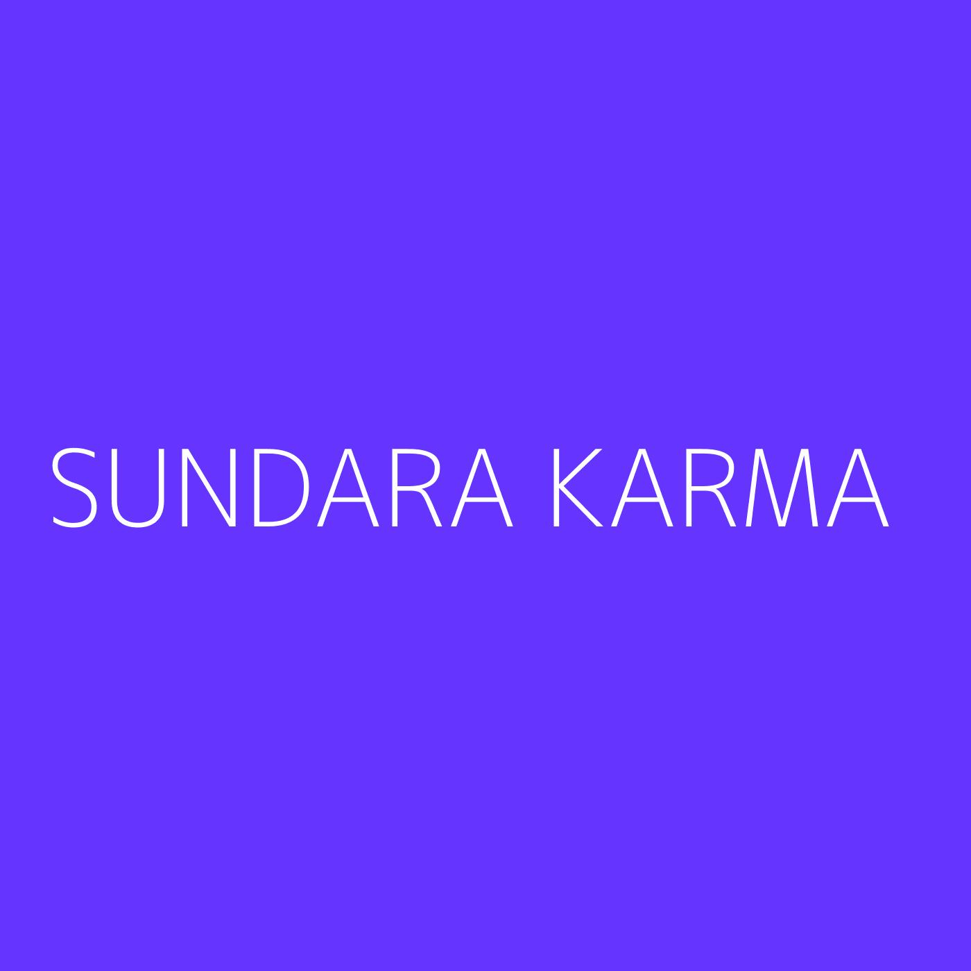 Sundara Karma Playlist Artwork