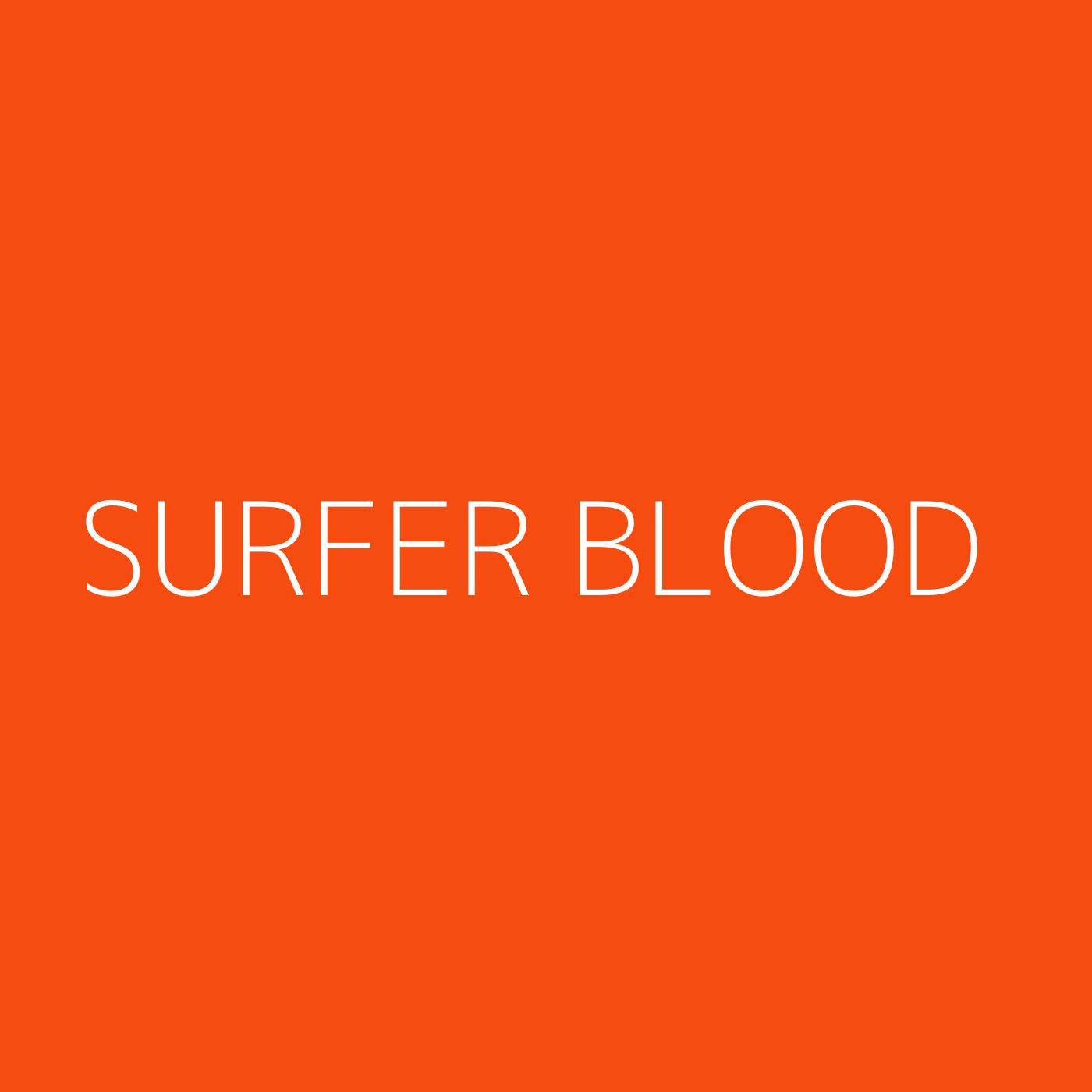 Surfer Blood Playlist Artwork