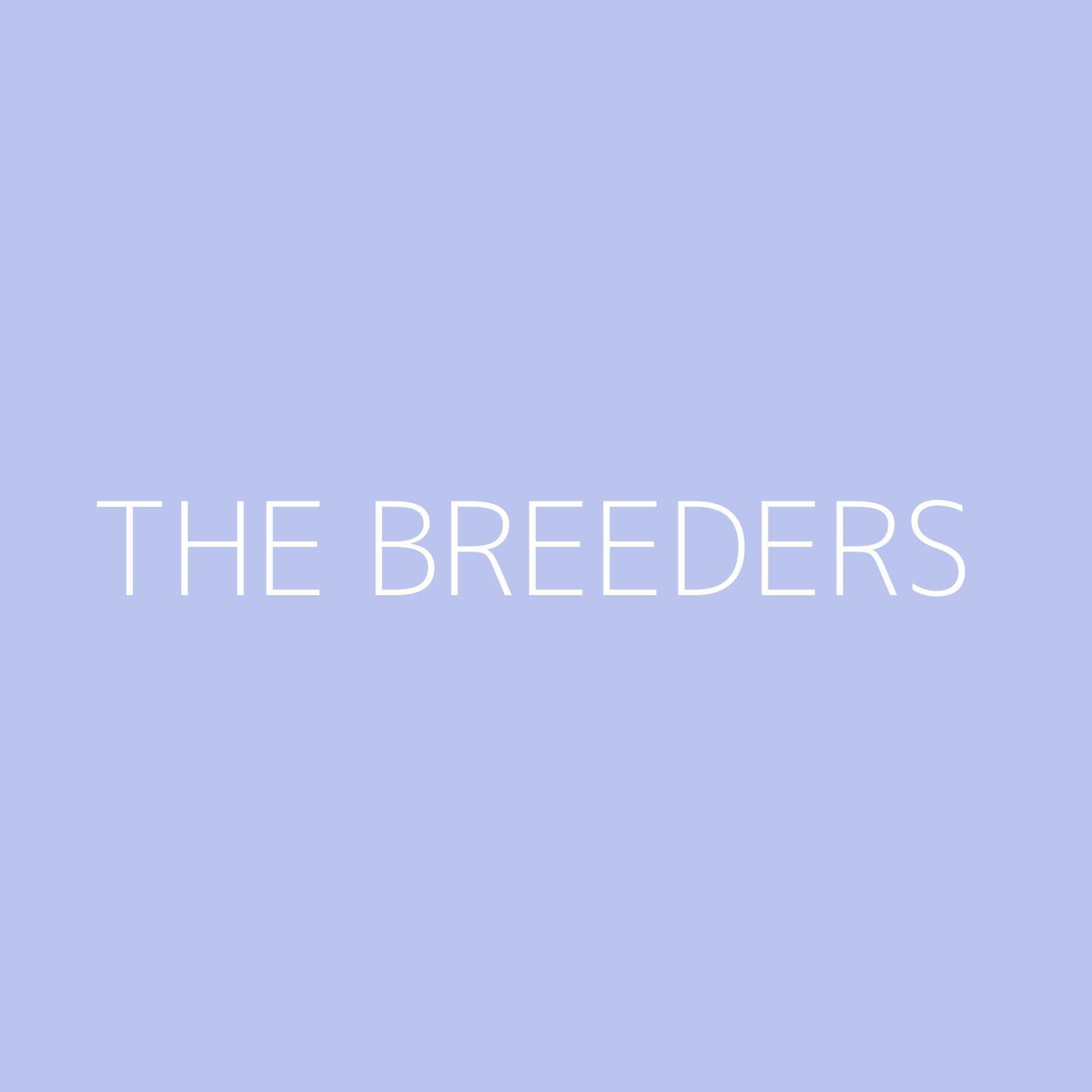 The Breeders Playlist Artwork