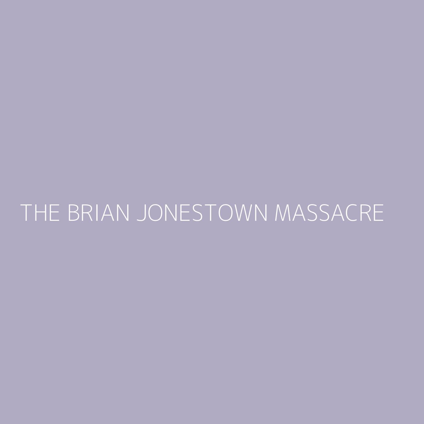 The Brian Jonestown Massacre Playlist Artwork