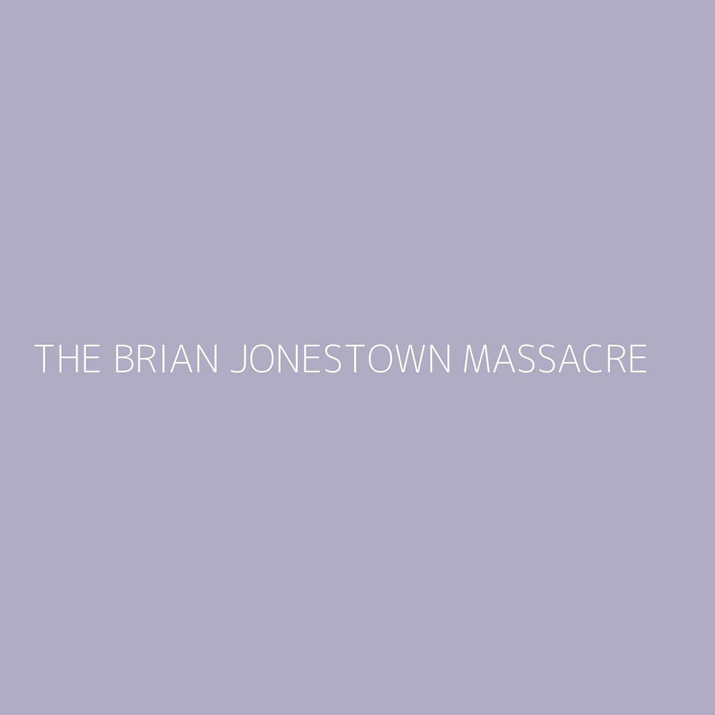 The Brian Jonestown Massacre Playlist Artwork
