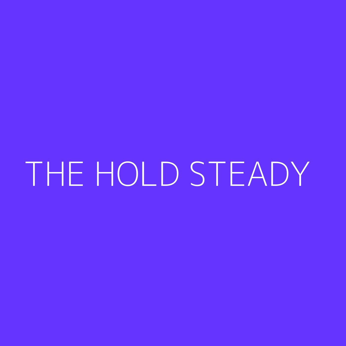 The Hold Steady Playlist Artwork