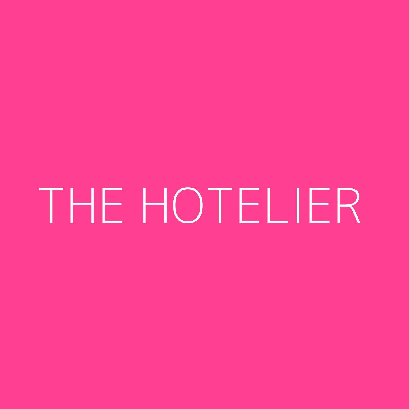 The Hotelier Playlist Artwork