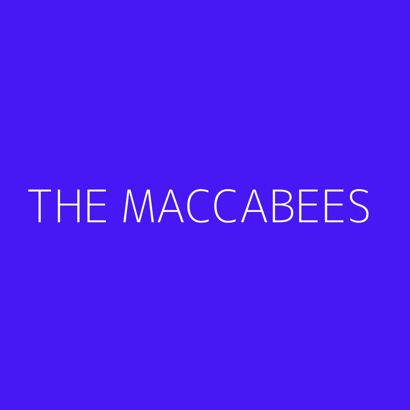 The Maccabees Playlist Artwork