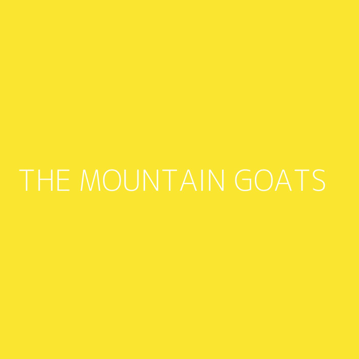 The Mountain Goats Playlist Artwork