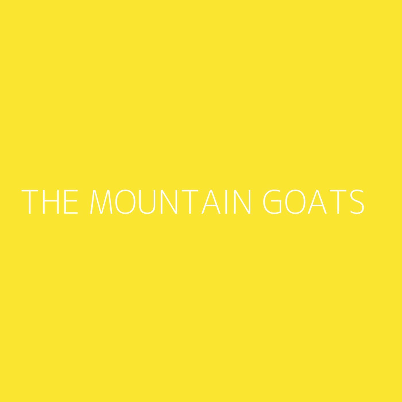 The Mountain Goats Playlist Artwork