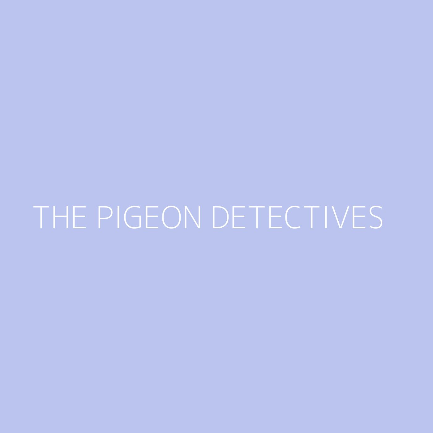 The Pigeon Detectives Playlist Artwork
