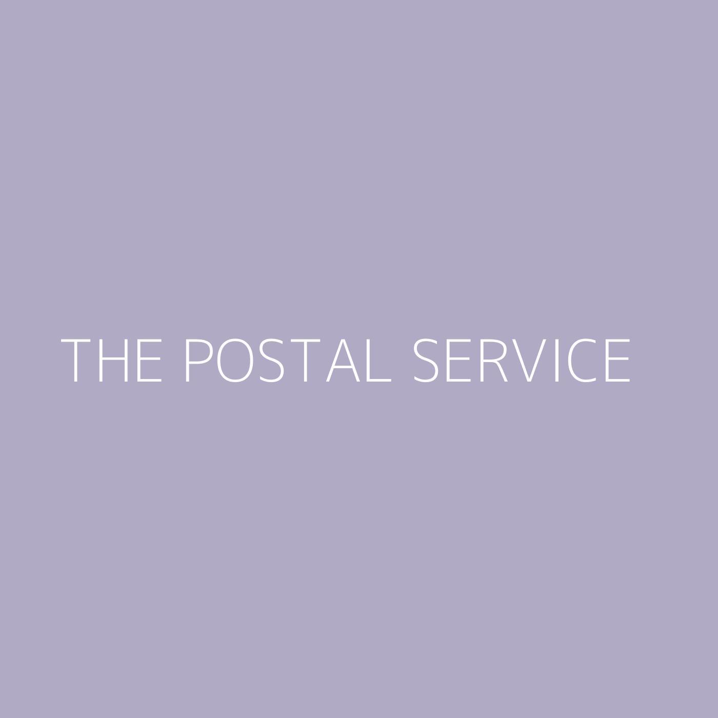 The Postal Service Playlist Artwork
