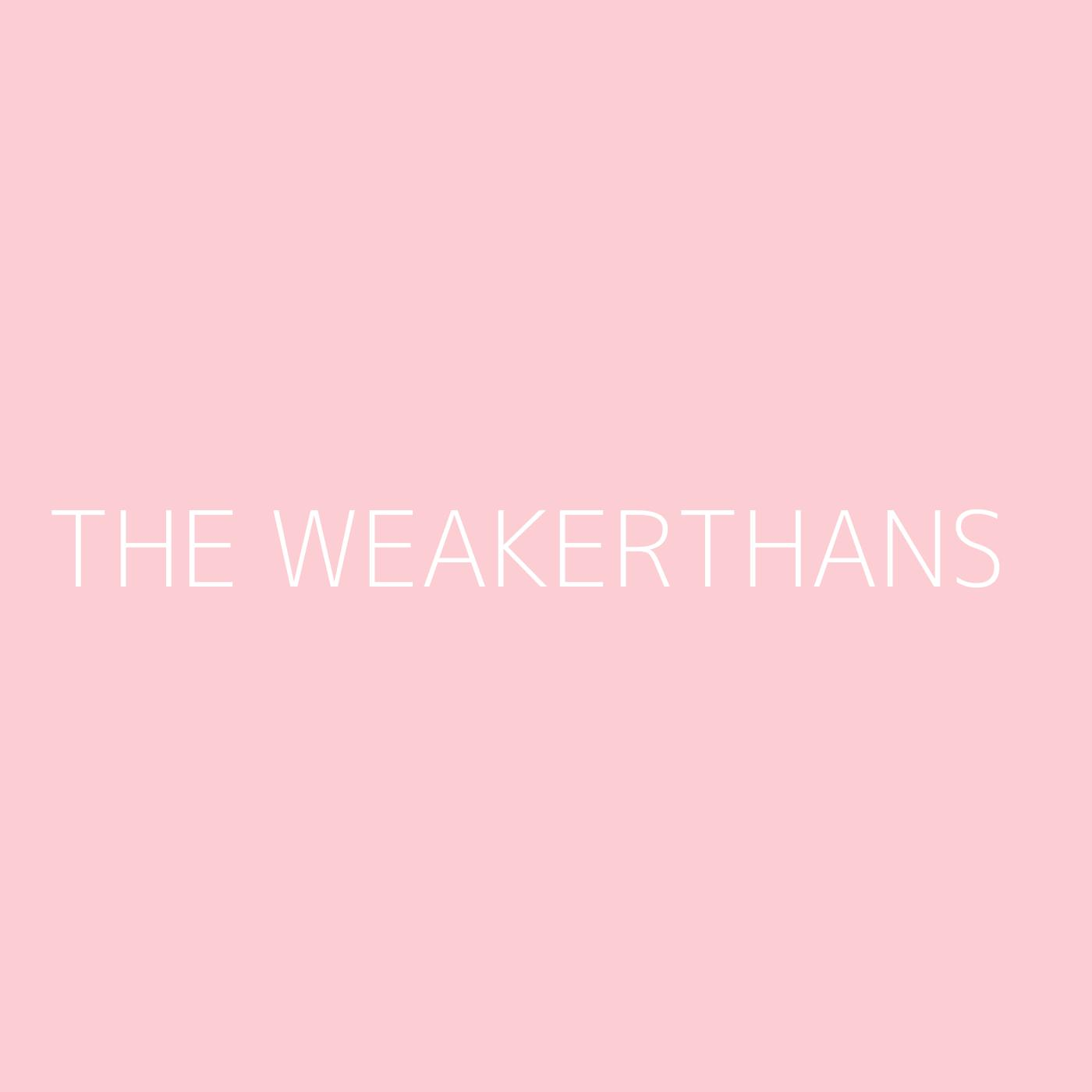 The Weakerthans Playlist Artwork