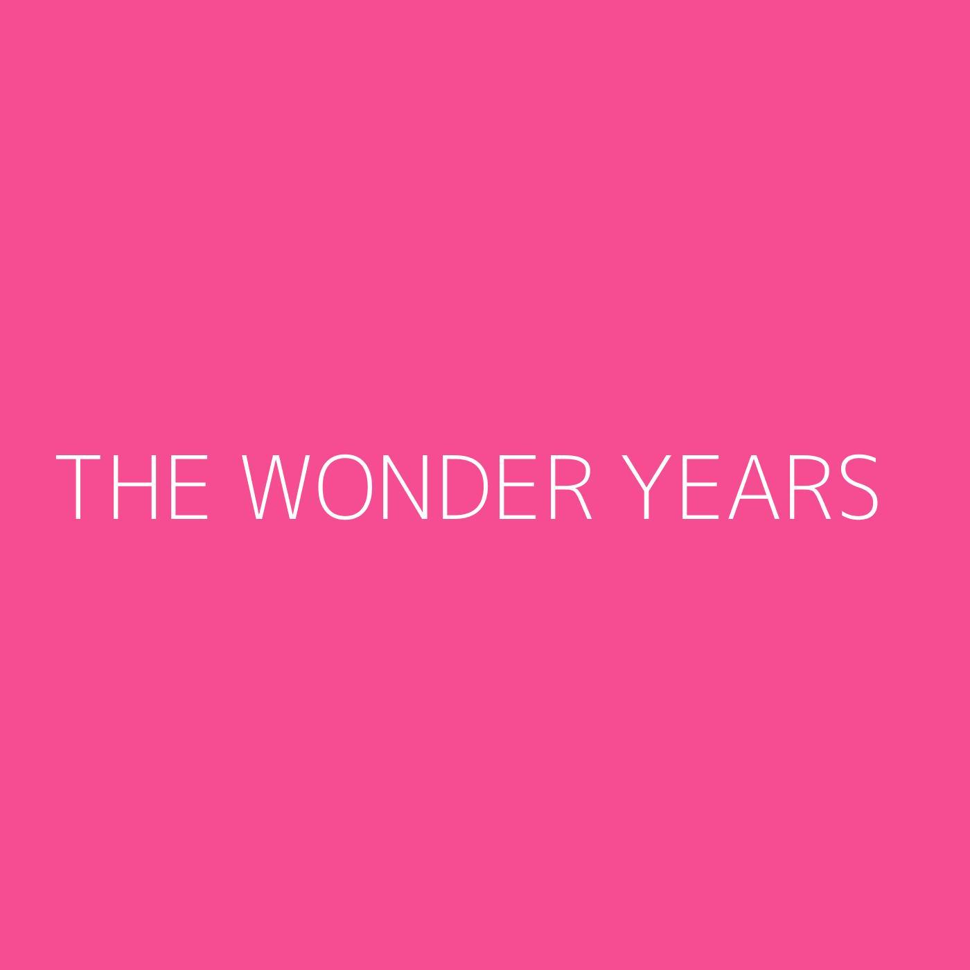 The Wonder Years Playlist Artwork