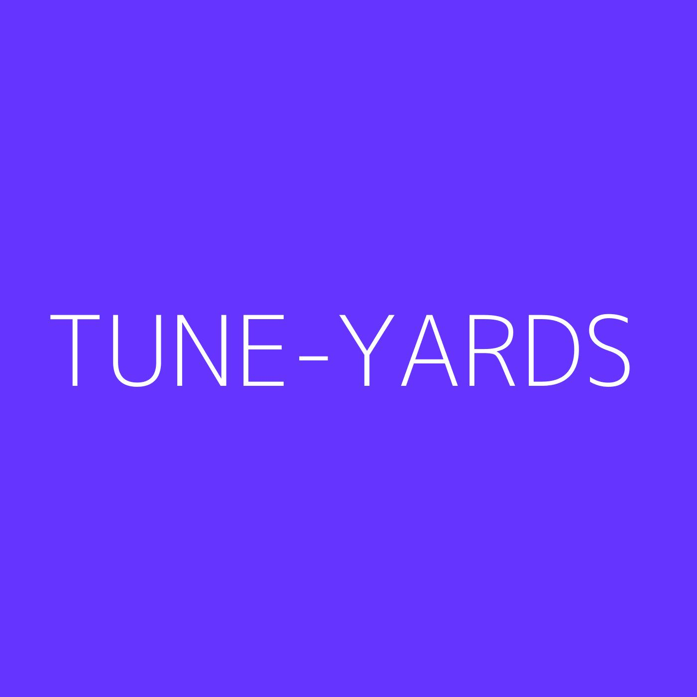 Tune-Yards Playlist Artwork