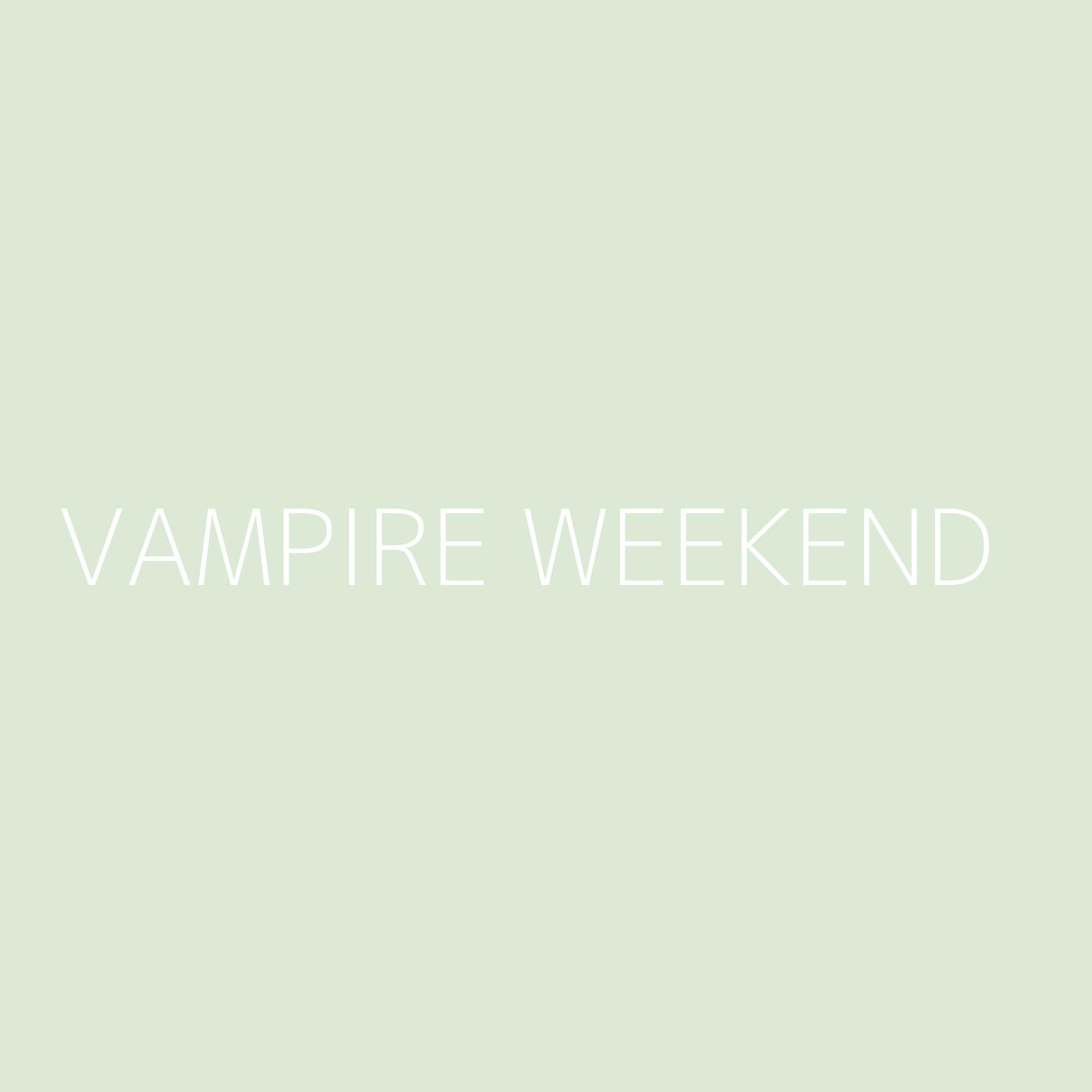 Vampire Weekend Playlist Artwork